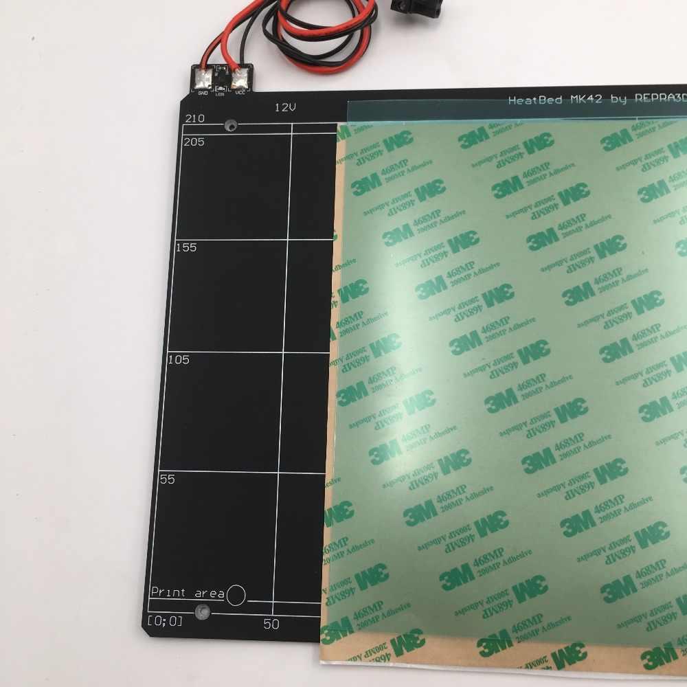 Reprap Prusa i3 MK2 MK2S 3d принтер кровать с подогревом с пей лента PCB heatкровать клон совместим с мини-Рамбо 1.3a