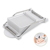 Stainless Steel Egg Ham Sausage Slicer Vegetable Fruit Soft Cheese Slicing Cutter Banana Divider Machine Gadget