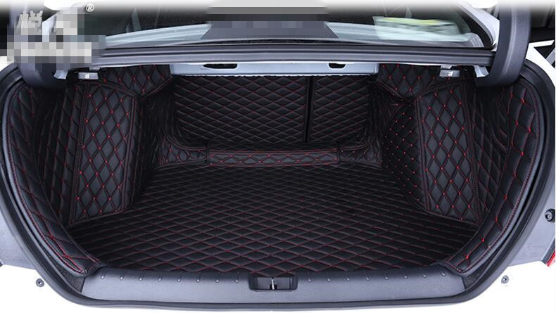 High quality! Special car trunk mats for Honda Civic 2017 waterproof cargo liner mats boot carpets for Civic 2016,Free shipping