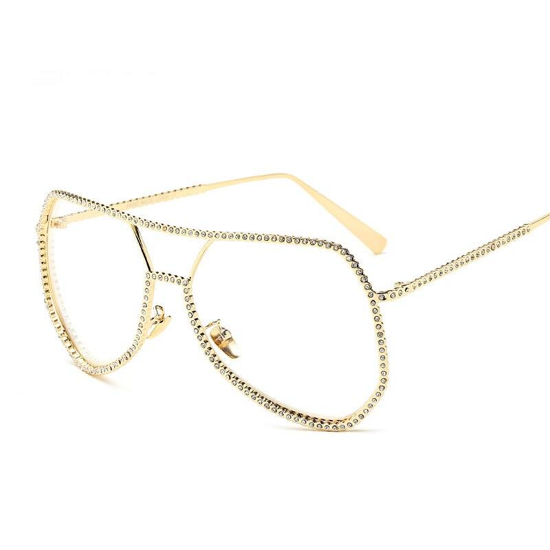 Women Carter Diamond Colorful Sunglasses Female Oversized Pink Sun Glasses Luxury Brand Driver Lunette Big Eyeglasses oculos