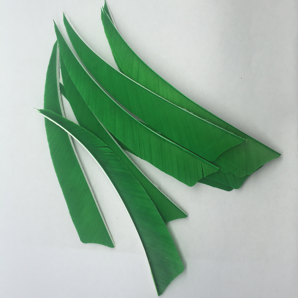 "Parabolic 4/"" Water Drop Arrow Feather Turkey Archery Arrows Pheasant Feathers"