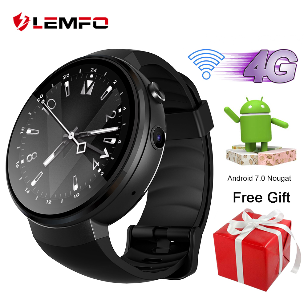 LEMFO LEM7 Smart Watch Android 7.1.1 Smartwatch 4G LTE Network Support Wifi Hotspot Bluetooth Smartwatch Phone 1GB + 16GB Memory