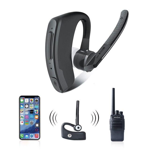 אלחוטי ווקי טוקי אוזניות PTT Bluetooth אוזניות עם מיקרופון מתאם 2 דרך רדיו M סוג אלחוטי אוזניות למוטורולה רדיו
