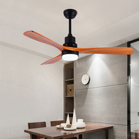 Ceiling Fan lamp Fans With Lights Remote Control Wood Industrial Vintage Decor AC 220v Modern Nordic 3 Wooden Blade Dropshipping