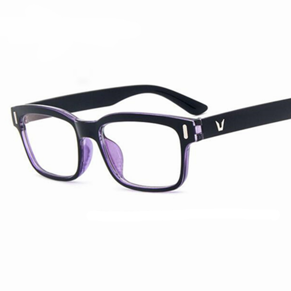 Eyeglasses Men Brand Frames Women Half Rim Clear Lens Eye Glasses Frames For Women Female Spectacle Frame myopia VV