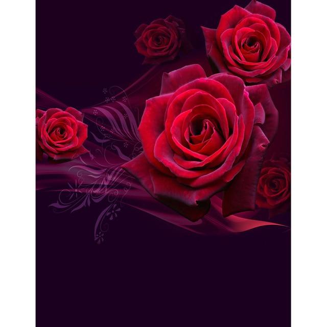 Fantastische Hintergrund Schöne Rote Rose Fotografie Kulissen Für  Valentinstag Fotografie Studio Foto Hintergrund Kamera Fotografia