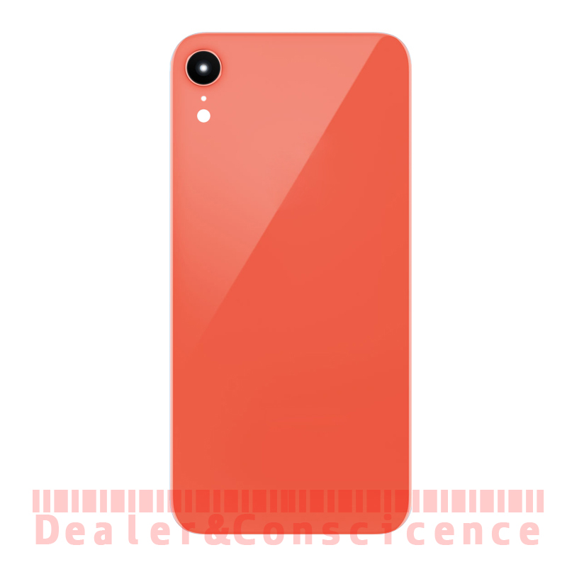 1Pcs (Checked) Glass Back Bttery Cover has Camera Lens(Has Pre installed) For Apple iPhone XR