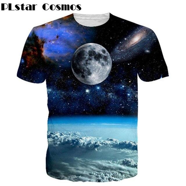 f2d019811f PLstar Cosmos Espaço Galaxy T-shirt de vestuário Marca de Moda Dos Homens  Mulheres