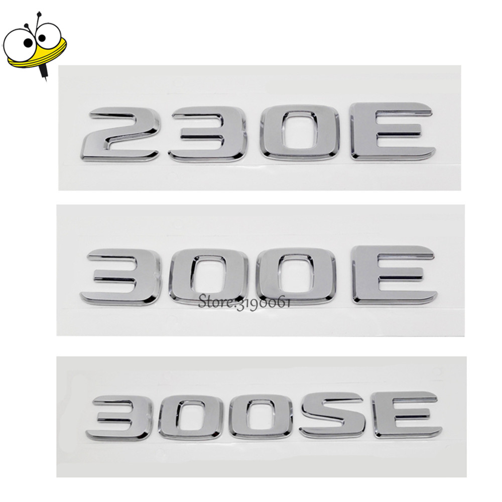 New Car Rear Sticker Emblem Badge Decal Car Styling Number Auto Car Accessories For Mercedes Benz 230E 300E 300SE W123 W124 W126 fr metal car stickers emblem badge for seat leon fr cupra ibiza altea exeo formula racing car accessories car styling