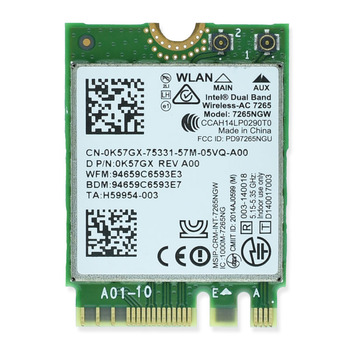 Laptop Network Card intel 7260 7260NGW 7265NGW 8260NGW 8265NGW 7265AC 8260AC 8265AC Bluetooth 867Mbps NGFF M2 Network Card