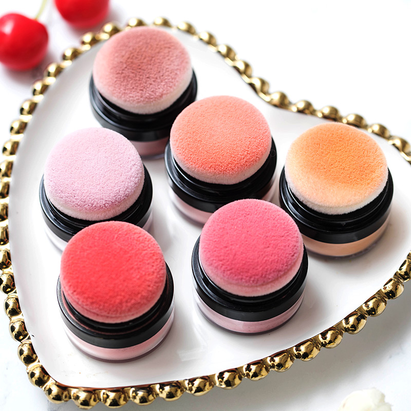 ILISYA Soft Face Blusher Powder Cheek Rouge Nourishing Nude Makeup Brightening Complexion Repair