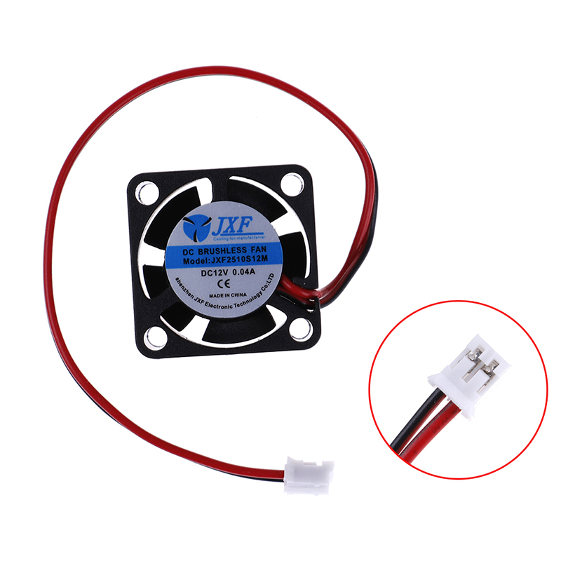 1 X Cooling Fan Mini DC 12V Brushless Cooling Fan 25mm  2510S Cooler Heatsink 25*25x10mm