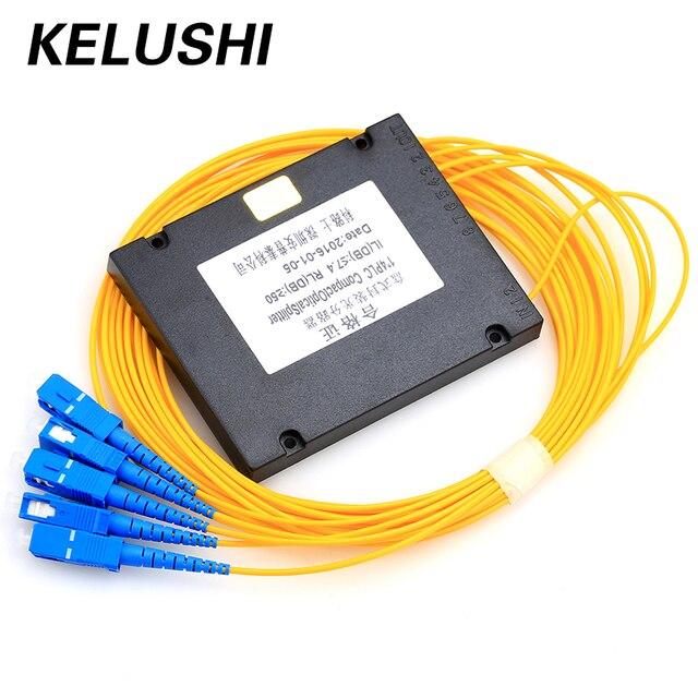 KELUSHI 1*4 PLC światłowód Splitter SC złącze światłowód narzędzie PLC Splitter światłowód rozgałęzienia urządzenia hurtownie
