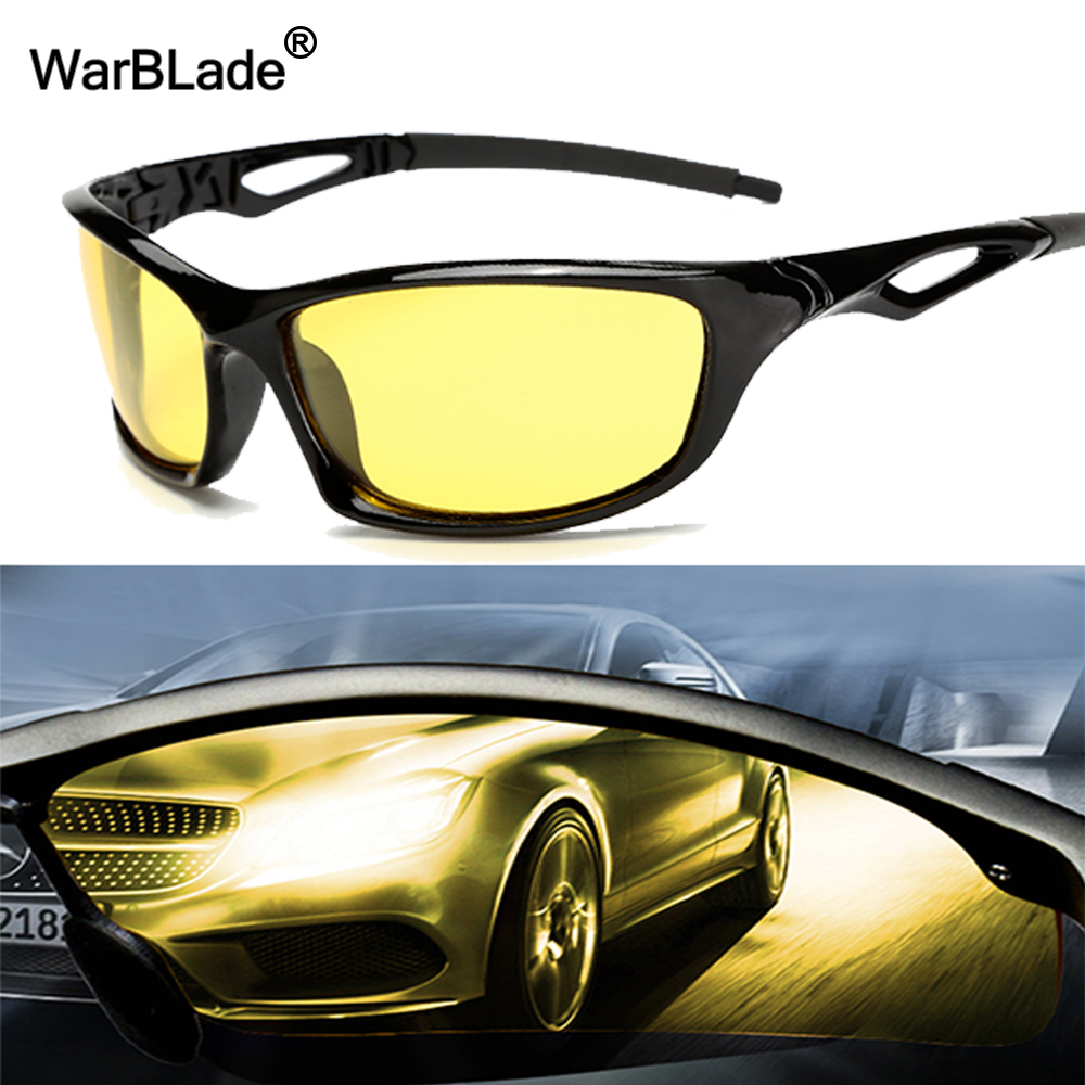 2018 New Arrival Men's Women Sunglasses Car Drivers Night Vision Goggles Anti-Glare Yellow Sun Glasses Driving Glasses WarBLade
