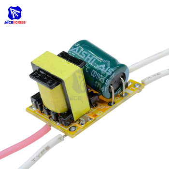 Non-waterproof LED Chip Driver Power Supply Driver Transformer AC 85-265V 3W DIY Kit Electronic PCB Board Module image