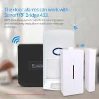 SONOFF 433MHZ RF Brücke Wifi Tür Fenster Motion Sensor DW1 Wireless Detektor PIR2 433 Alarm Fernbedienung Smart Home Sicherheit system
