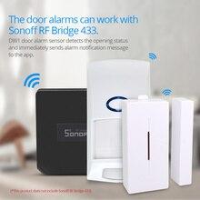 SONOFF sistema de seguridad inteligente para el hogar, dispositivo inalámbrico con Sensor de movimiento para puertas y ventanas, 433MHZ, RF, Detector PIR2 433, alarma remota