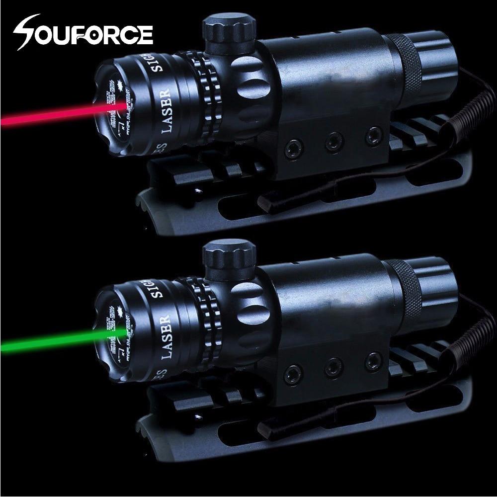 Rojo/Verde láser interruptor remoto traje 25,4/30mm anillo 20mm carril QD montaje + W /interruptor remoto para la caza