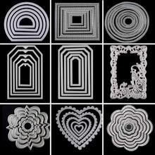 Metal Cutting Dies Circle Frame Stencils For DIY Scrapbooking Embossing Paper Wedding Cards Die Cuts Photo