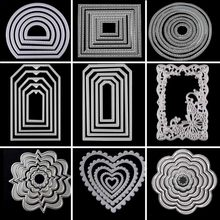 Metal Cutting Dies Circle Frame Stencils For DIY Scrapbooking Embossing Paper Wedding Cards Die Cuts Photo Album Making Craft(China)
