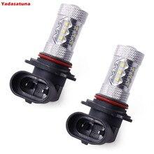 2 piezas 9006 80w 1600lm 6000-6500k 16x cree XB-d Chips bombilla LED de luz blanca para la luz antiniebla coche (12-24, )
