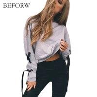 BEFORW Fall T Shirt 2017 O Neck Long Sleeve T Shirt Elegant Ladies T Shirt Women