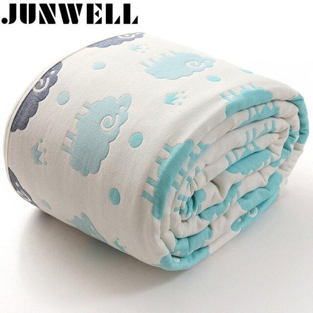 100% algodón grueso muselina manta jacquard 150x200 cm cama ...