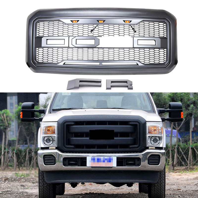 Car Racing Grille For Ford F250 F350 Grill 2011-16 Emblems