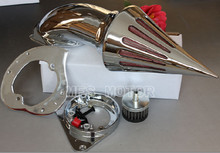 motorcycle parts Spike Air Cleaner intake filter for Kawasaki Vulcan 800 Classic 1995-2012 CHROME show chrome standard ultragard classic half motorcycle cover cranberry