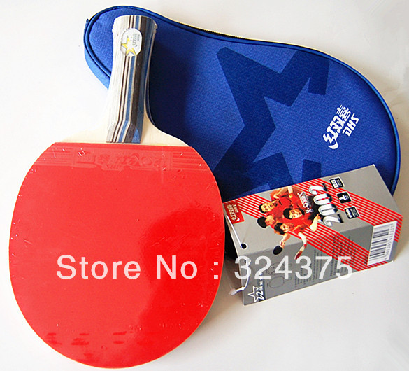 1 DHS Ping Pong Table Tennis Racket Paddle Bat Waterproof Blue Bag - Online Store 324375 store