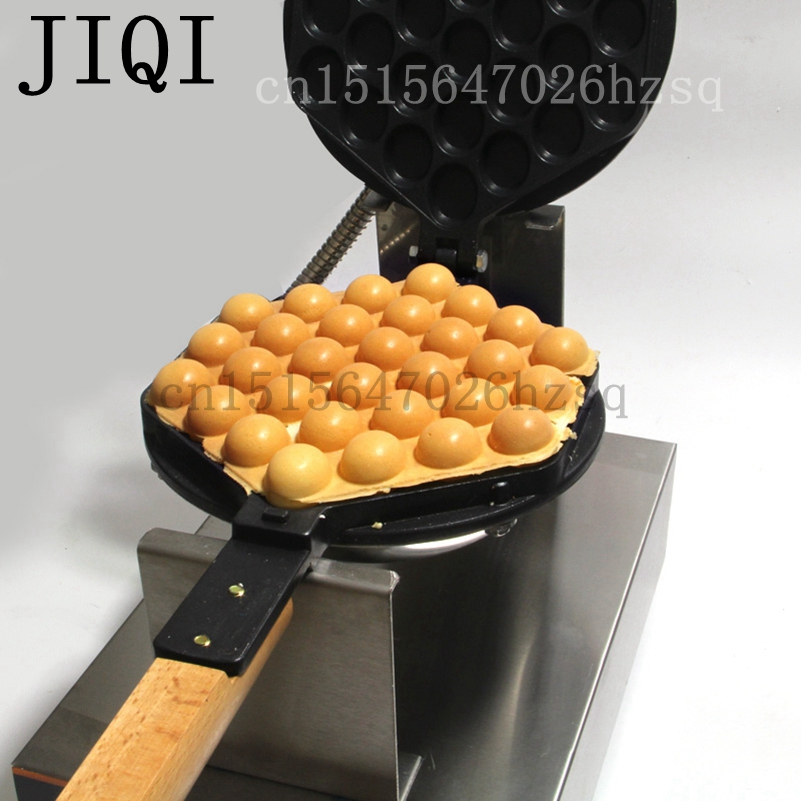 JIQI Stainless Steel Electric Eggettes Egg Waffle Maker kitchen appliance high quality AC 220V AC 110V free shipping stainless steel electric eggettes egg waffle maker rotated 180 degrees