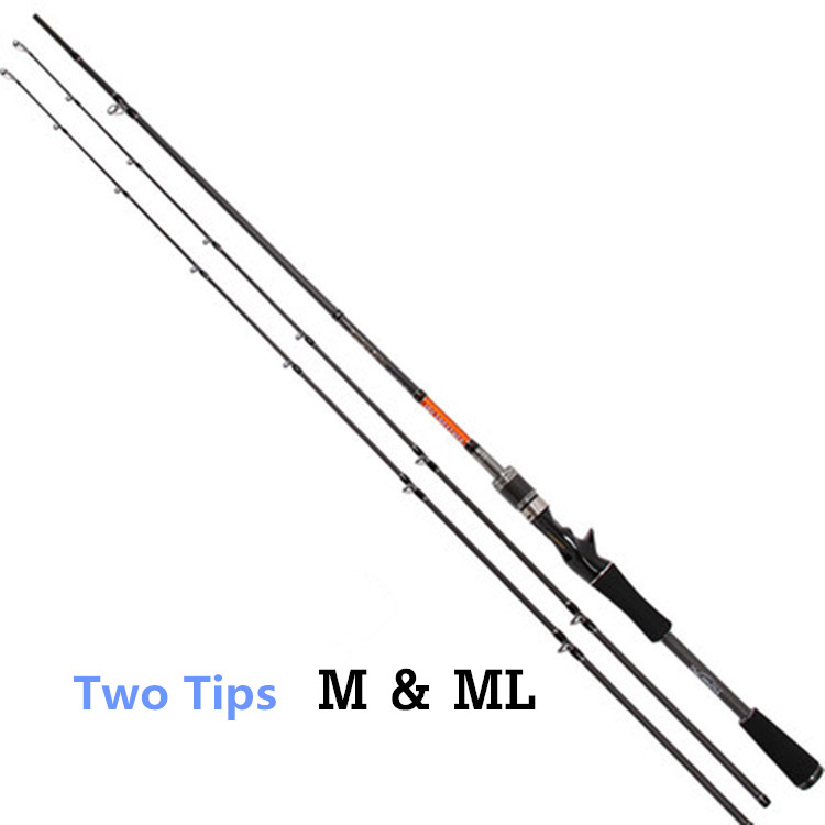 Free Shipping Trulinoya 2 Tips M & ML Carbon Fiber Fishing Rod 2.1m 2 Section Casting Rod 2017 hot sale 14cm 515v rc mini drone with 2mp camera quadcopter helicopter remote control toy gift for boy children vs h8 h36