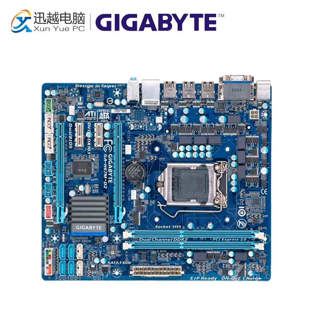 цена Gigabyte GA-H67M-D2 Desktop Motherboard H67M-D2 H67 LGA 1155 i3 i5 i7 DDR3 16G Micro-ATX