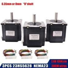 3 шт./лот 23HS5628 с 4мя фазами, Nema 23 шагового двигателя 57 двигатель 165 Oz-in 56 мм 2.8A ISO лазера CNC Измельчить Пена плазменной резки