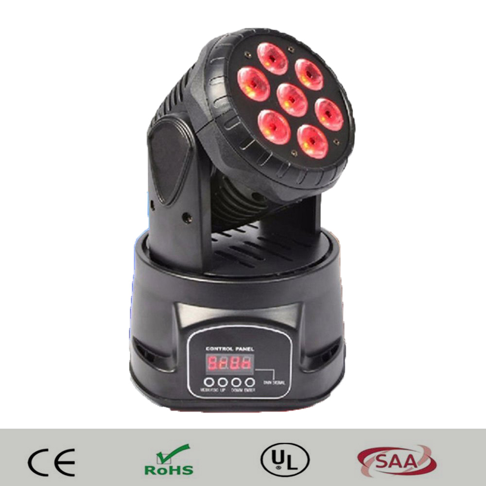 China moving head 7*12W RGBW 4IN1 mini wash Led Moving Head Light DMX Wash led Effect Lighting DMX 14CH DMX512 lighting цена