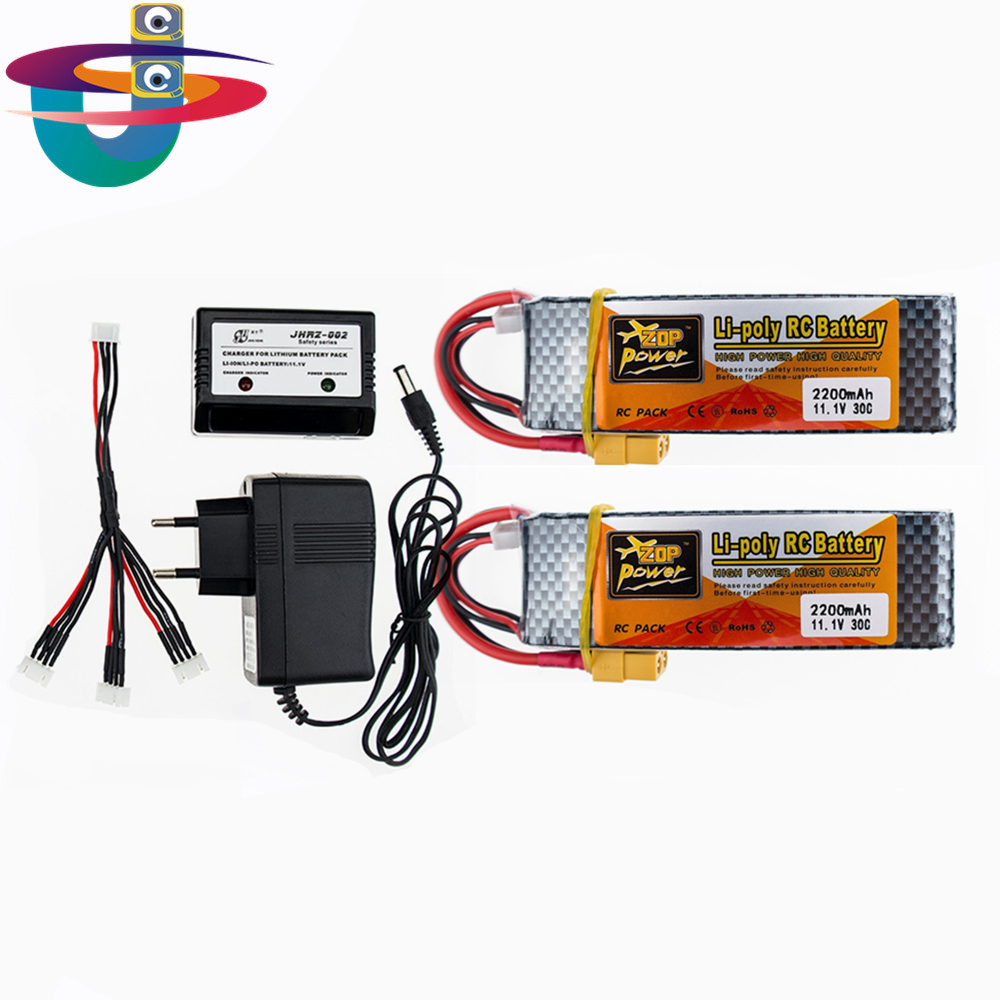 2PCS RC lipo battery 11.1V 2200mAh 25C 3s Lipo Battery For RC Helicopter RC Airplane RC Hobby