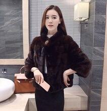 2017 factory new arrival Koren style women's full pelt fashion short genuine mink fur coat ,100% real mink fur coat ZLF-4