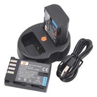 DSTE 2pcs DMW BLF19E DMW BLF9 Dmw Blf9eLi Ion Battery UDC141A USB Port Charger For Panasonic