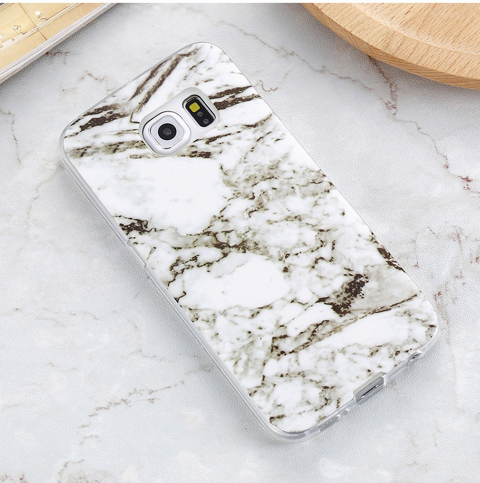 Marble Skin Case For Samsung Galaxy S8 Plus S7 S6 Edge S4 Soft Silicon Phone Cases (10)
