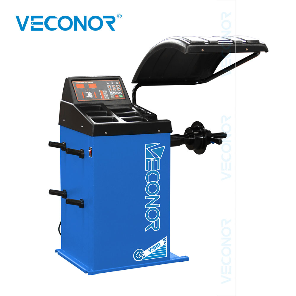 V900 Semi-automatic Car Wheel Balancer With CE For Car Wheels Up To 24