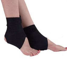Tcare 1Pair Tourmaline Self heating Far Infrared Magnetic Therapy Ankle Care belt Support Brace Heel Massager Foot Health Care