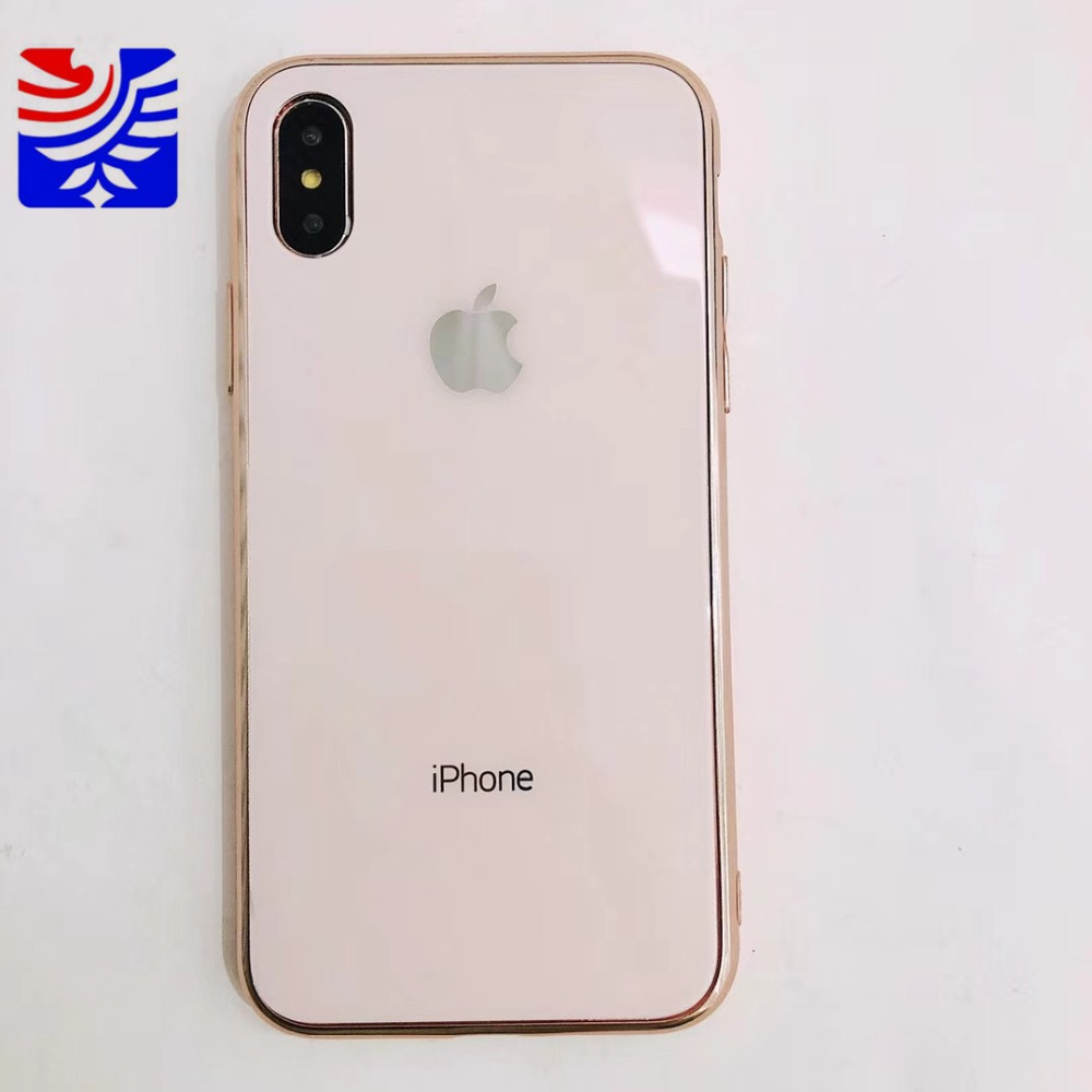 PEIPENG Luxury made of electroplated glass Anti-fall Phone Cases For iphone 6 6S 7 8 Plus X Xs Max Christmas gift Girl Simple and stylish05