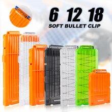 6-12-18 laranja clipe de recarga para nerf revista redonda dardos substituição arma de brinquedo macio bala clipe para nerf blaster arma de brinquedo