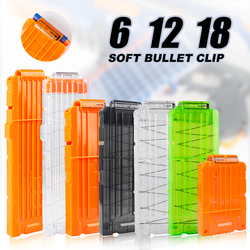 6-12-18 Orange Reload Clip For Nerf Magazine Round Darts Replacement Toy Gun Soft Bullet Clip For Nerf Blaster arma de brinquedo