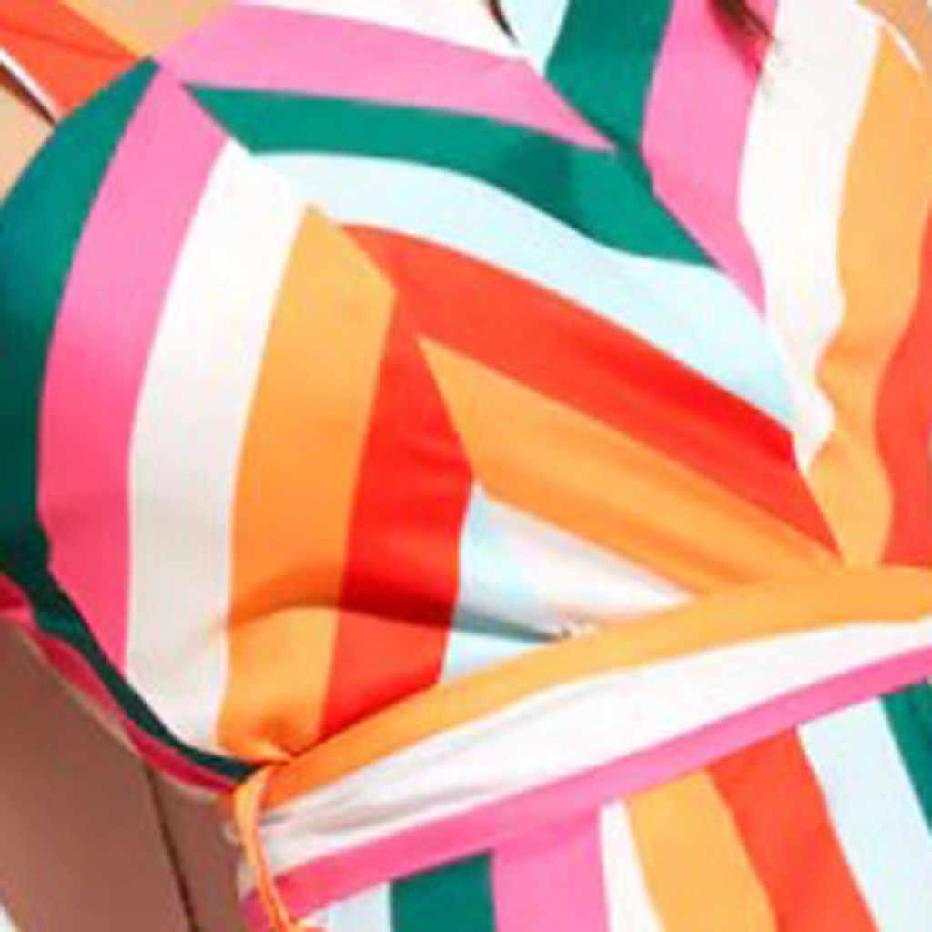 Womail комбинезон модный сексуальный женский многоцветный в полоску Радужный без рукавов легко Camisole комбинезон пояс широкие ноги комбинезоны 24 мая