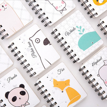Kawaii animal expression mini notebook diary book portable notepad stationery offce school supplies material escolar