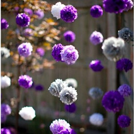 Us 22 8 60pcs 15cm 20cm Fluffy Balls Wedding Decoration Tissue Paper Pom Poms Small Paper Flowers Hanging Party Home Garden Decoration In Party Diy