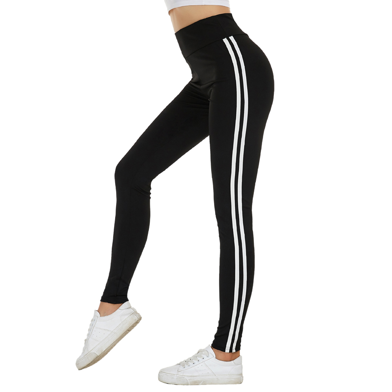 Glam city Joggers Women White Stripe Pants Women's Pants