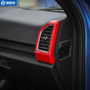 Image 2 - Mopai abs interior do carro painel de ar condicionado ventilação tomada decoração capa quadro adesivos para ford f150 2015 + estilo do carro