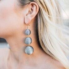 JUJIA 2019 Ethnic Long Ball Pom Pom Earrings Handmade Statement Drop Earrings For Women Jewelry pendientes flecos